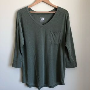 The North Face 3/4 sleeve henley shirt